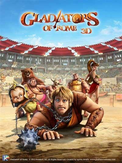 پوستر گلادیاتورهای دست و پا چلفتی Gladiators of Rome