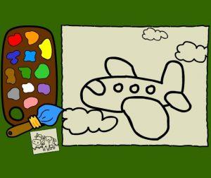 animated-painting-300x252 نقاشی آنلاین انیمیشن با رنگ ها(هواپیما-حیوانات)