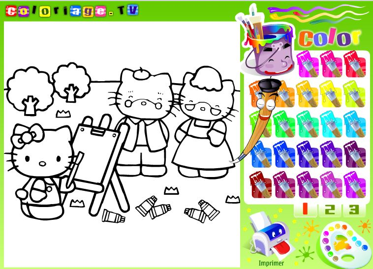 نقاشی کیتی گربه ملوس