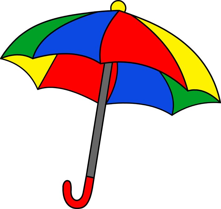 کلیپ آرت چتر رنگارنگ کودکانه