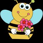 عکس کارتونی زنبور و گل