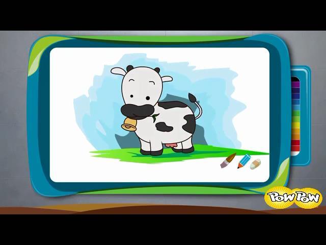 نقاشی گاو کارتونی