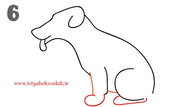 066 آموزش نقاشی رسم یک سگ