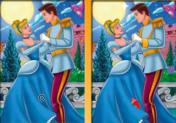 اختلاف بین تصاویر-سیندرلا