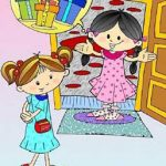 دانلود کتاب کودکانه هدیه پر ماجرا-عکس کارتونی دو دختر کوچولو