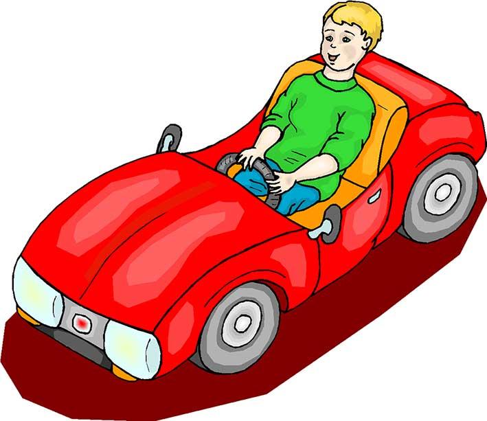 گل پسرم جون منه - عکس کارتونی ماشین سواری کودکانه