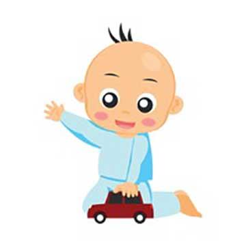 baby-playing-with-toy-car گل پسرم جون منه ترانه ای کودکانه با صدای حمید جبلی