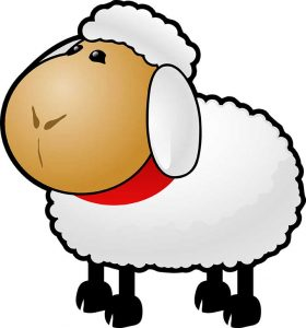 Sheep-01-280x300 قصه ببعی و گرگ - قصه گوسفند کوچولو و یه گرگ بدجنس