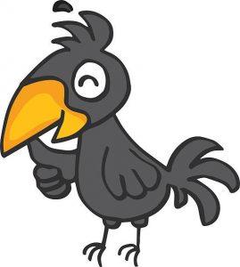 crow-clipart7-269x300 قصه صوتی علی کوچولو و بلبل با صدای مریم نشیبا