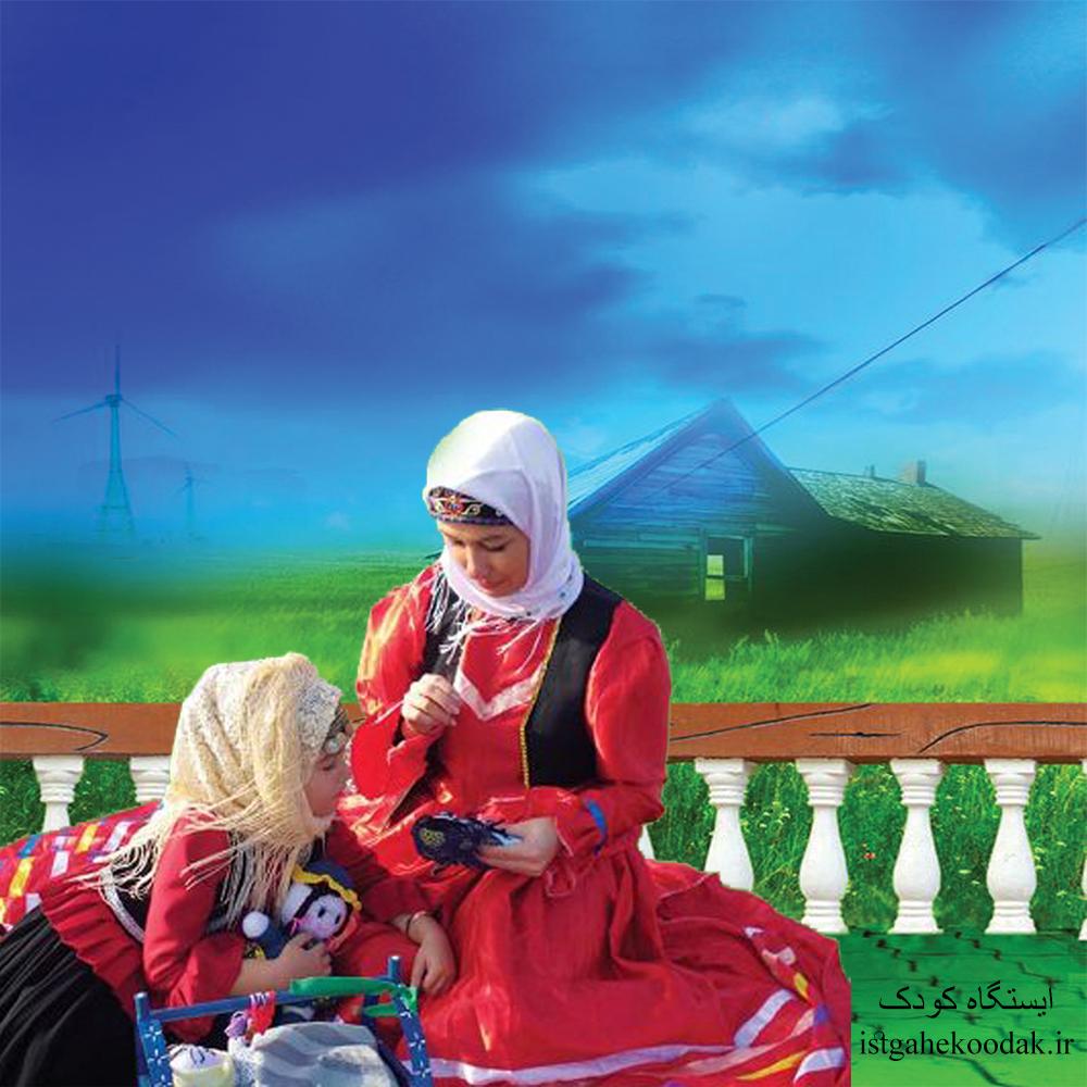 لالایی گیلکی - زن گیلکی - لباس محلی - بچه