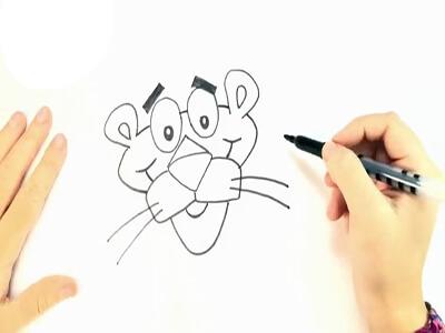 آموزش نقاشی پلنگ صورتی