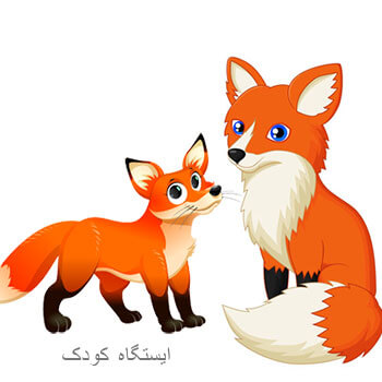 آشنایی با روباه - عکس کارتونی روباه قرمز