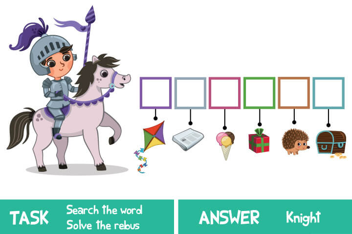 Solve-the-rebus 15 برگه رایگان انگلیسی برای آموزش و تمرین کودکان