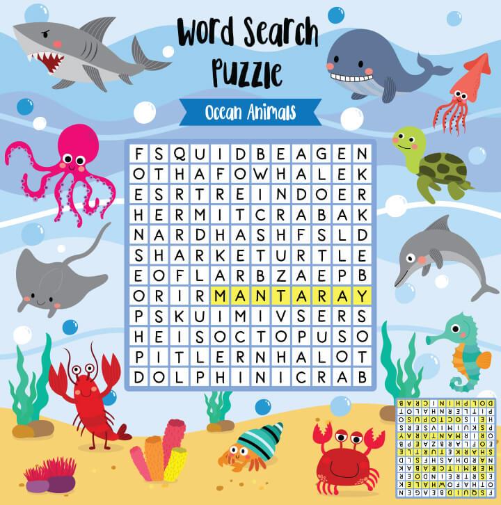 Word-search-puzzle 15 برگه رایگان انگلیسی برای آموزش و تمرین کودکان