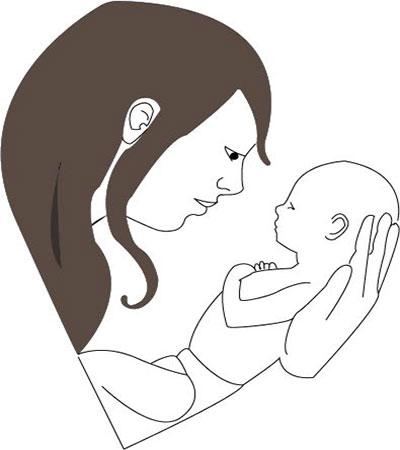 بغل کردن نوزاد توسط مادر