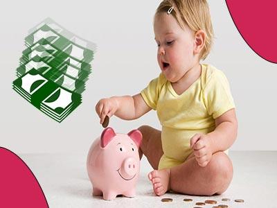 کودک و قلک - پس انداز کردن پول