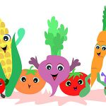 میوه و سبزیجات - عکس کارتونی