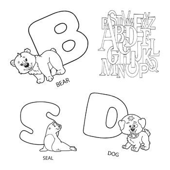 رنگ آمیزی حروف انگلیسی -نقاشی