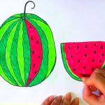 آموزش نقاشی هندوانه