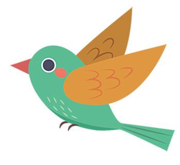 گنجشک و غوزه پنبه - عکس کارتونی پرنده