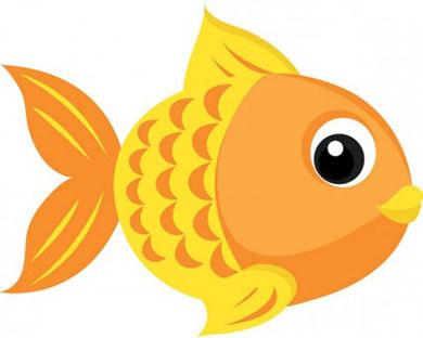 عکس کارتونی ماهی طلایی