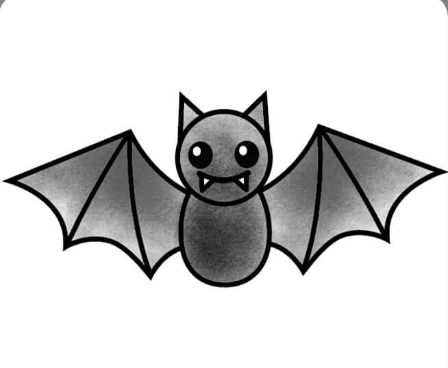 آموزش نقاشی خفاش برای کودکان