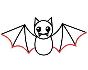 Finish-up-the-wings-300x239 آموزش نقاشی خفاش برای کودکان - آموزش گام به گام