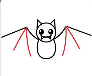 Wing-Details-300x249 آموزش نقاشی خفاش برای کودکان - آموزش گام به گام