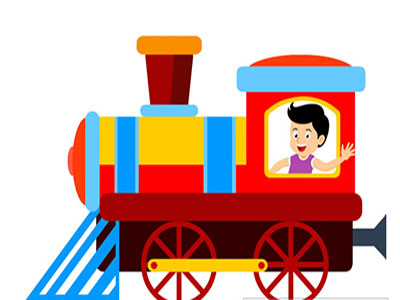 عکس کارتونب قطار بچه ها