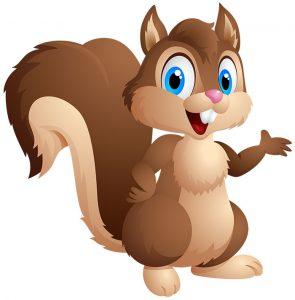 Squirrel_clipart-295x300 قصه صوتی پستچی جنگل سبزبه همراه متن داستان