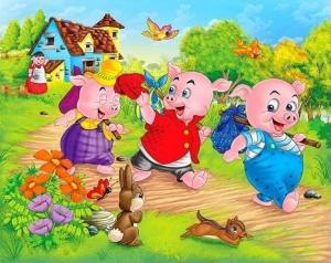 three-little-pigs1-300x238 دانلود قصه صوتی سه بچه خوک با صدای فاطمه عرب به همراه کتاب داستان
